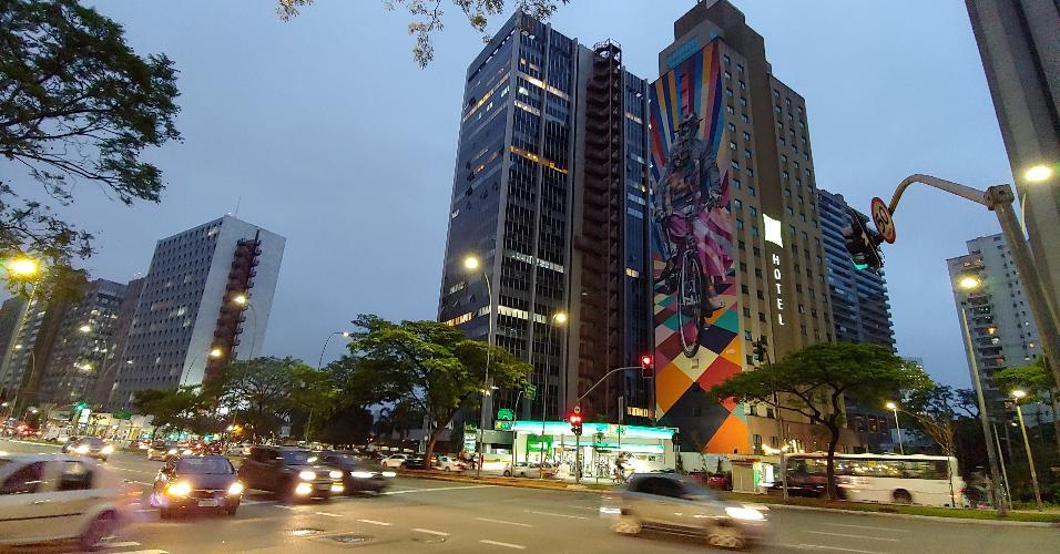 LG G7 ThinQ -  foto à noite
