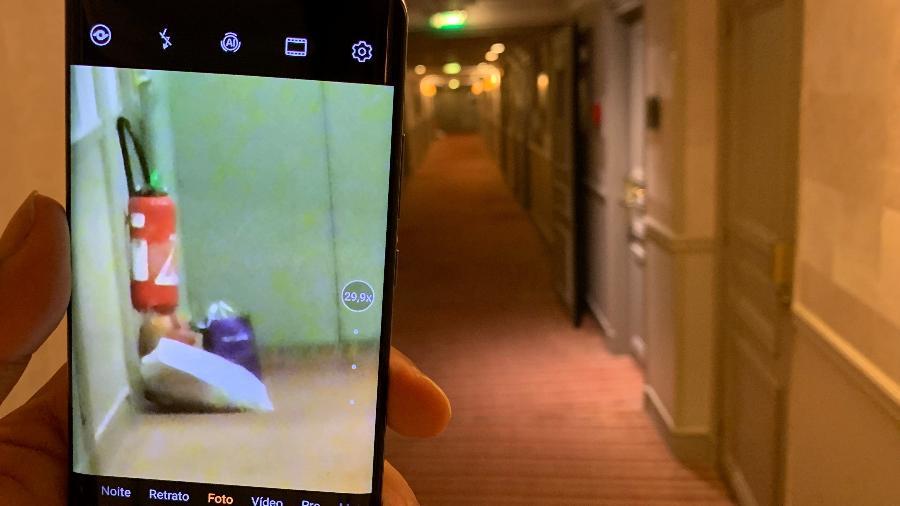 Foto feita com o zoom do Huawei P30 Pro mostra o nível de aproximação - Helton Simões Gomes/UOL