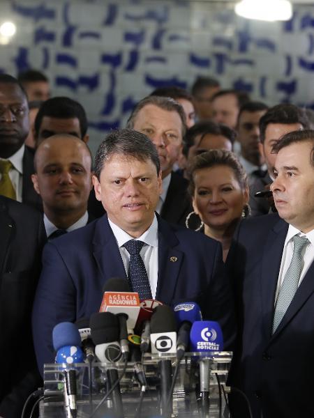 4.jun.2019 - O ministro da Infraestrutura, Tarcísio Gomes de Freitas durante coletiva de imprensa - Dida Sampaio/Estadão Conteúdo