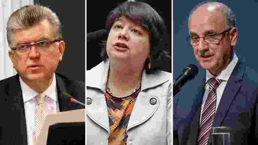 18.jun.2019 - Os procuradores Mário Bonsaglia, Luiza Frischeisen e Blal Dalloul, eleitos para a lista tríplice para a PGR - Divulgação/ANPR