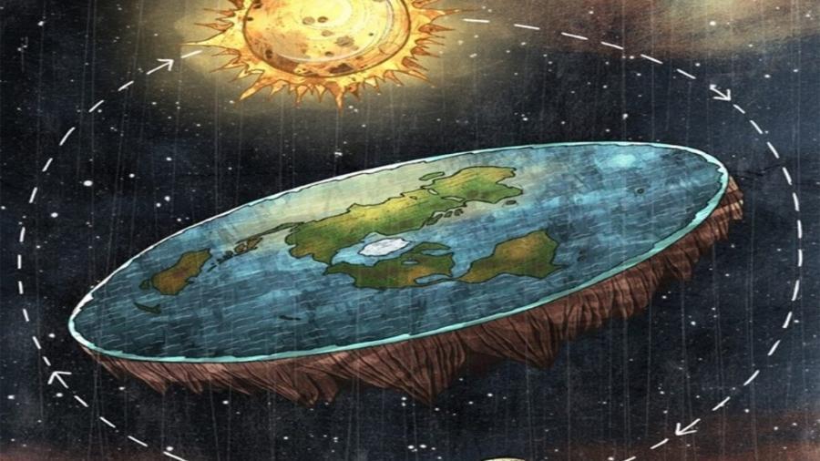 A Terra na concepção dos terraplanistas: mais de 100 mil pessoas negam nas redes sociais a esfericidade do planeta - Divulgação