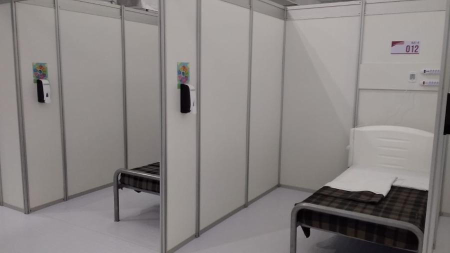 Leito do Hospital de Campanha de Heliópolis, em São Paulo, aberto em 2020 - Divulgação