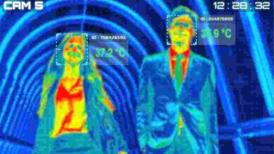 Uma das recomendações do CDC é checar a temperatura dos funcionários antes de eles entrarem na empresa - Getty Images via BBC