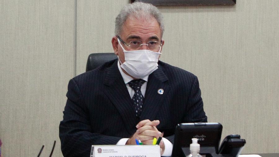 Ministro da Saúde, Marcelo Queiroga durante cerimônia Virtual alusiva ao Prêmio do Dia mundial Sem tabaco da OPAS/OMS - Ailton de Freitas/Ministério da Saúde
