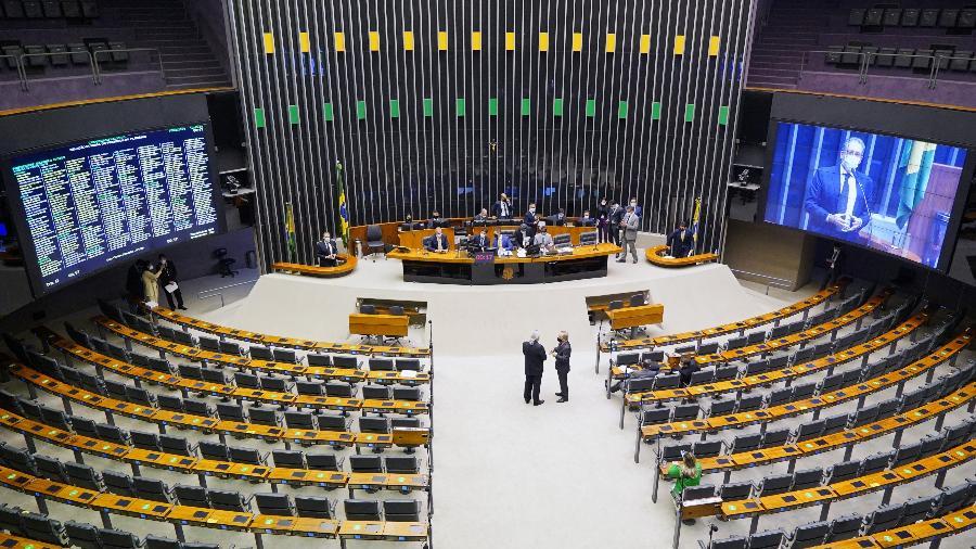 16.jul.2021 - Plenário da Câmara dos Deputados durante sessão  - Pablo Valadares/Câmara dos Deputados