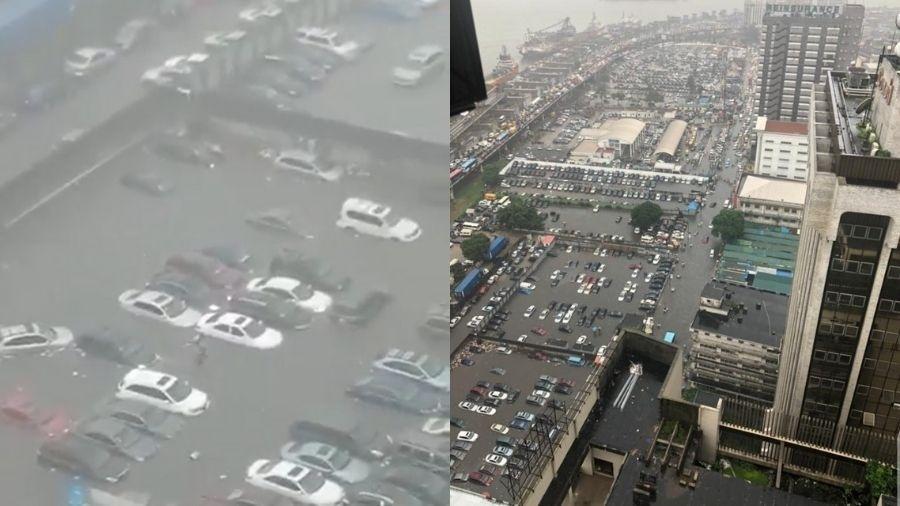 Cidade de Lagos, na Nigéria, sofre com enchentes e com o nível do mar - Reprodução/Twitter