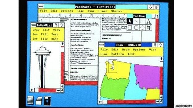 Em 1987 a Microsoft lançou o Windows 2.0 com memória ampliada, gráficos melhores e a possibilidade de sobrepor janelas, controlar o desenho da tela e usar atalhos no teclado para acelerar o trabalho
