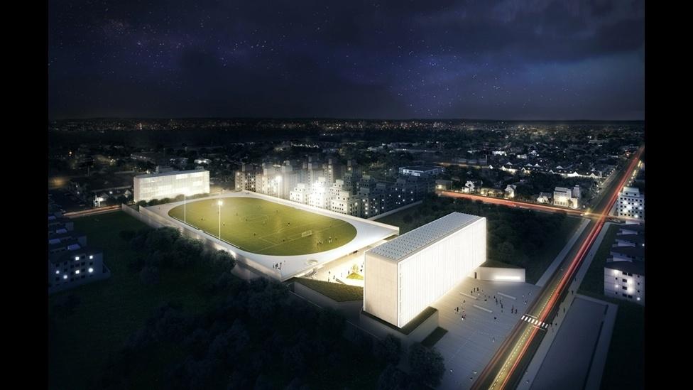 O campus Igara da UFCSPA (Universidade Federal de Ciências da Saúde de Porto Alegre), no Rio Grande do Sul, foi o projeto vencedor na categoria Esportes e Estádios. O escritório OSPA Arquitetura e Urbanismo criou um centro de educação esportiva que inclui um campo de futebol