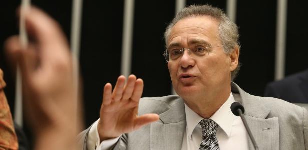O presidente do Senado, Renan Calheiros (PMDB-AL), conduziu sessão que durou mais de 16 horas. O Congresso Nacional votou projeto que alterou a meta fiscal de 2016