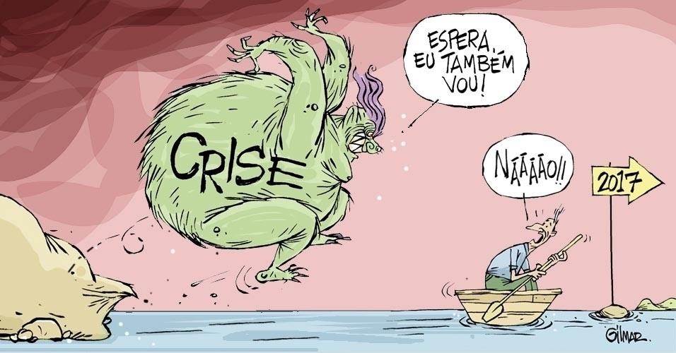 29.dez.2016 - Crise pesada embarca rumo ao Ano Novo