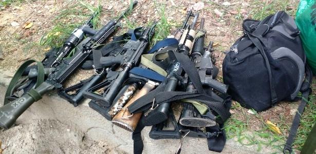 Armas apreendidas na operação investigada