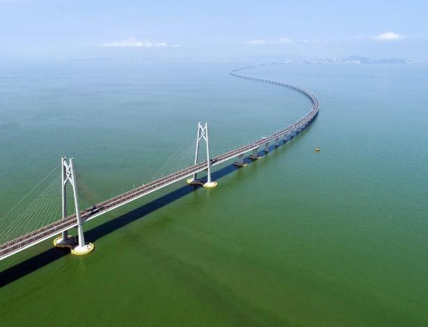 14.ago.2018 - Ponte liga Hong Kong, Zhuhai e Macau  - Liang Xu/Xinhua