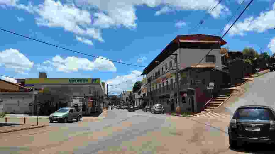 Rua Padre Eustáquio, a principal via de Brumadinho (MG) - Luciana Quierati/UOL