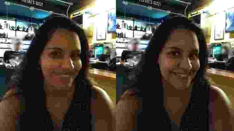 Tentativas de selfie em um ambiente com pouca luz - UOL