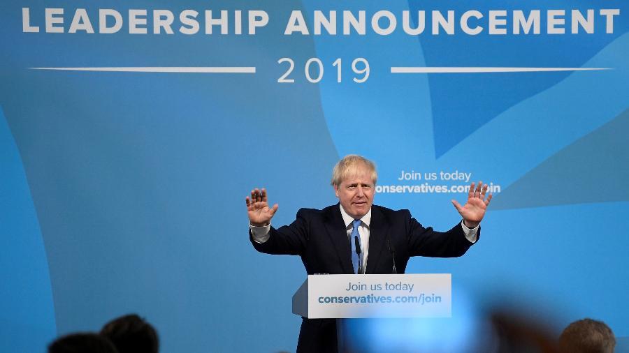 Boris Johnson foi eleito com ampla margem como novo líder do Partido Conservador e premiê do Reino Unido - Toby Melville/Reuters