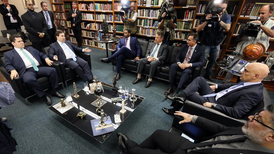 Reunião sobre Fundo Amazonas com ministro Alexandre de Moraes, governadores e presidentes da Câmara e Senado  - Nelson Jr./SCO/STF