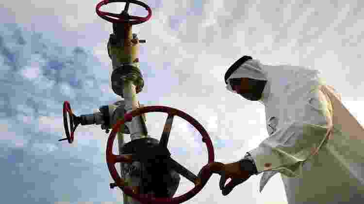 Com uma produção diária de 10 milhões de barris, a Aramco, empresa estatal controlada pela monarquia saudita, detém o título de maior petrolífera do mundo - Joe Raedle - Joe Raedle