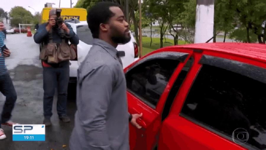 Motorista do aplicativo 99 é acusado de ter agredido três assessoras do ator Felipe Titto - Reprodução/TV Globo