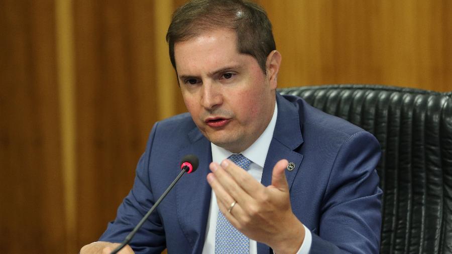 O secretário especial de Previdência e Trabalho, Bruno Bianco, em coletiva de imprensa - Fabio Rodrigues Pozzebom/Agência Brasil