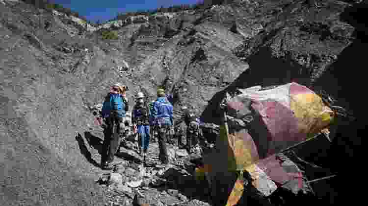 Destroços do avião da Germanwings nos alpes franceses - Y.Malenfer/Ministère de l?Intérieur - Y.Malenfer/Ministère de l?Intérieur