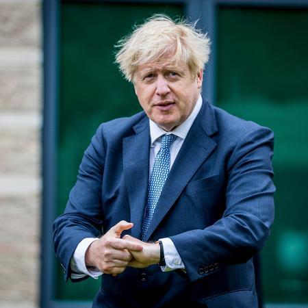 O premiê britânico, Boris Johnson, em Northallerton -