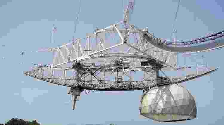 Plataforma receptora do telescópio de Arecibo, em Porto Rico - Mariordo (Mario Roberto Durán Ortiz) - Mariordo (Mario Roberto Durán Ortiz)
