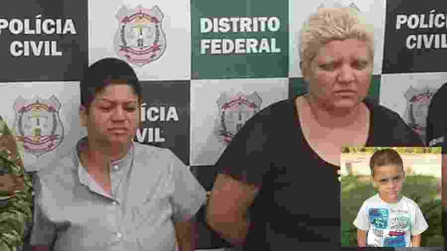 A mãe de Rhuan Maycon (à esq.) foi condenada junto com a companheira dela (à dir.) por matar e esquartejar o menino em maio de 2019 - Divulgação/Polícia Civil e Reprodução/Facebook