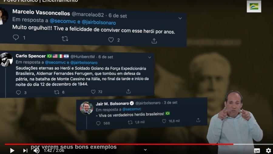 """Vídeo da campanha da Secom """"Povo heroico"""" de setembro de 2020 - Reprodução/Youtube"""
