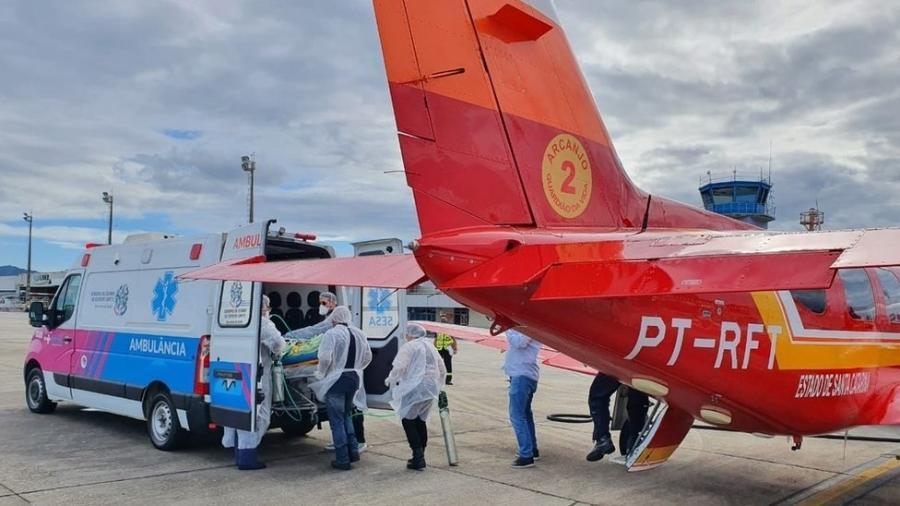 Sobrecarga das unidades hospitalares de Santa Catarina teve início em meados de fevereiro - Corpo de Bombeiros de SC