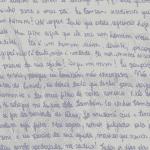 Carta de Monique Medeiros, mãe de Henry Borel, à família - Reprodução/Arquivo Pessoal
