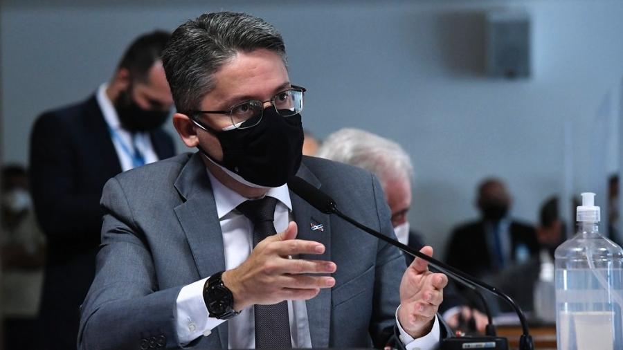 """Para Alessandro Vieira, o presidente do Senado está sendo """"omisso"""" ao não aprovar a prorrogação da CPI - Edilson Rodrigues/Agência Senado"""