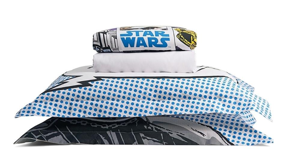 Jogo de cama queen Riachuelo da linha Star Wars: R$ 189,90