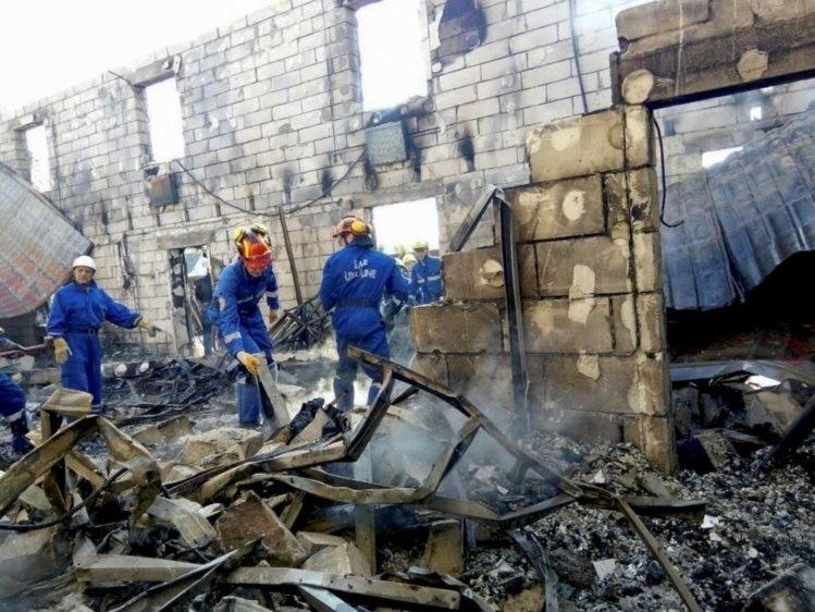 29.mai.2016 - Um incêndio em lar de idosos numa cidade próxima à capital Kiev, na Ucrânia, deixou 17 pessoas mortas e outras cinco feridas. A causa das chamas ainda é desconhecida