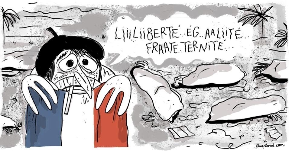 """16.jul.2016 - Viver com medo é ter """"liberdade, igualdade e fraternidade""""?"""