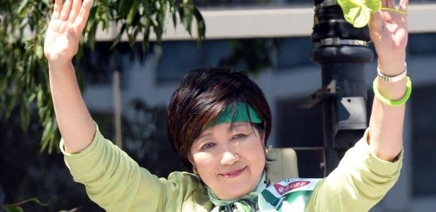 Yuriko Koike, ex-apresentadora de TV e ex-ministra da Defesa do Japão