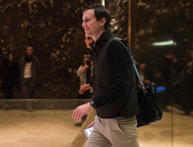 Jared Kushner, genro de Donald Trump, na Trump Tower, em Nova York