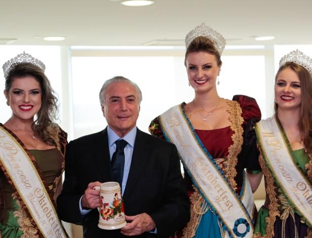 Temer participa da cerimônia que dá a Blumenau o título de Capital Nacional da Cerveja