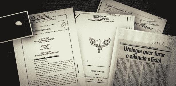 Arquivos da Aeronáutica sobre OVNIs estão disponíveis para consulta no Arquivo Nacional - Arte/UOL
