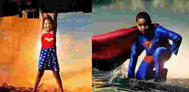 Crianças com deficiências viram super-heróis em ensaio fotográfico - Happyxel/Divulgação