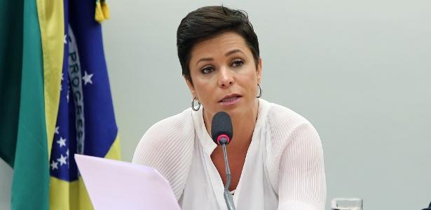 Dep. Cristiane Brasil (PTB - RJ) durante audiência na Câmara
