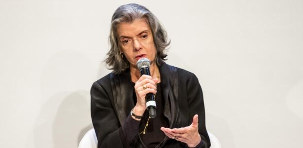 13.mar.2018 - A presidente do Supremo Tribunal Federal (STF), ministra Cármen Lúcia, durante evento em SP