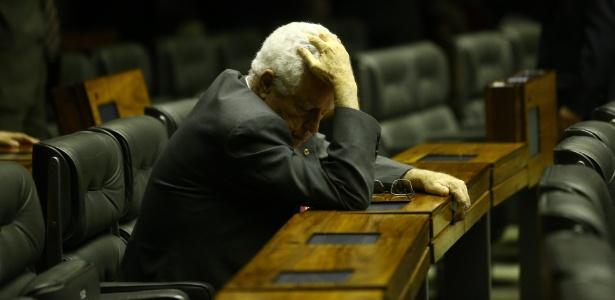 O deputado federal Nelson Meurer (PP-PR) no plenário da Câmara dos Deputados, em Brasília