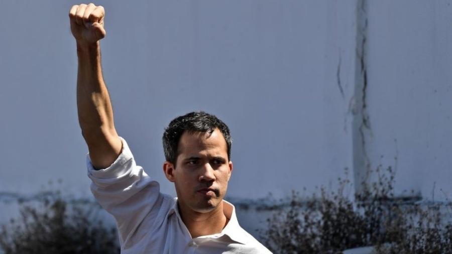 Guaidó, de 35 anos, assumiu a presidência da Assembleia Nacional, o último órgão de Estado sob controle da oposição - Getty Images