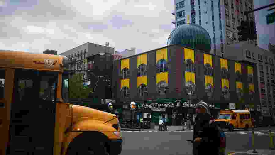 A Escola Elementar Sister Clara Muhammad no Harlem, em Nova York, tem diversos estudantes que não se vacinaram contra o sarampo - John Taggart/The New York Times