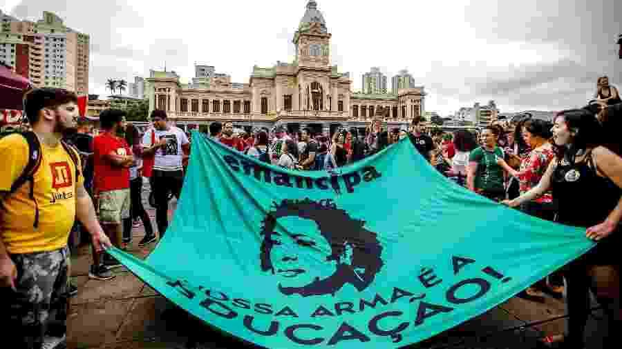 Imagem de Marielle Franco, vereadora carioca assassinada no ano passado - Cristiane Mattos/Estadão Conteúdo