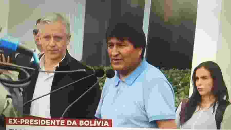 Evo Morales desembarcou nesta terça-feira no México, onde conseguiu asilo político - Reprodução/BandNews