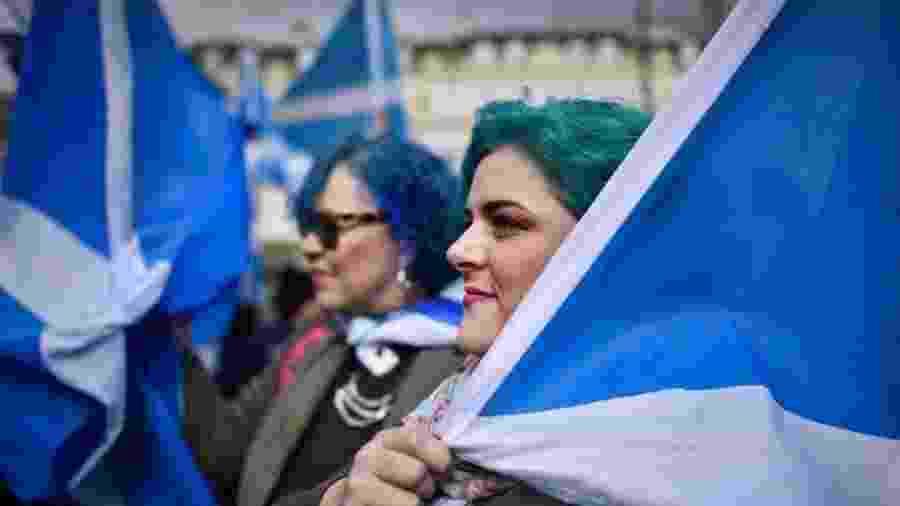 Os escoceses que apoiam a independência aguardam um segundo referendo desde 2014 - Getty Images