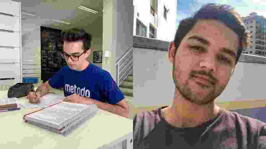 Os alunos Carlos Eduardo Immig, 19, e Gabriel Lopes, 20, que tiraram nota máxima na redação do Enem 2019 - Arquivo pessoal