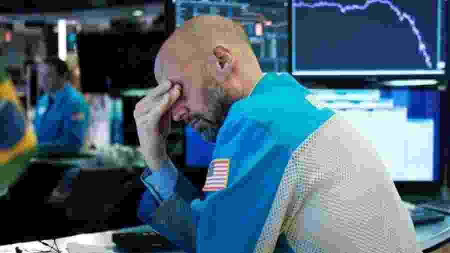 O mercado financeiro segue em queda por causa da pandemia de coronavírus - Getty Images