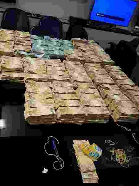 Dinheiro apreendido pelo MP-RJ em operação que prendeu Edmar Santos - Divulgação/MP-RJ - Divulgação/MP-RJ
